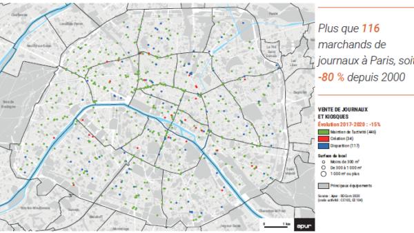 L'inventaire des commerces à Paris met en avant l'érosion de la vente de presse
